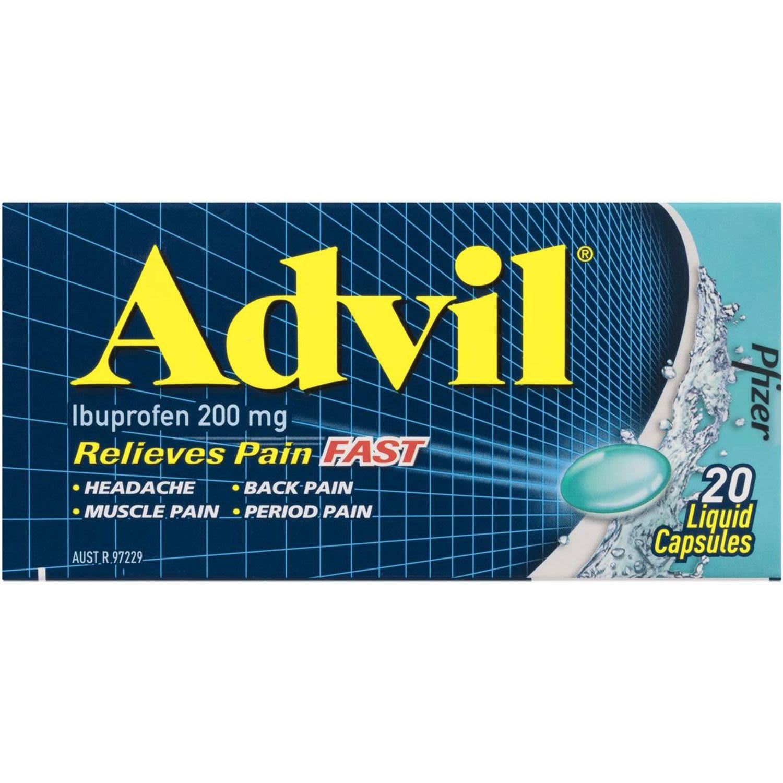 Advil Liquid Capsules, 20 Each