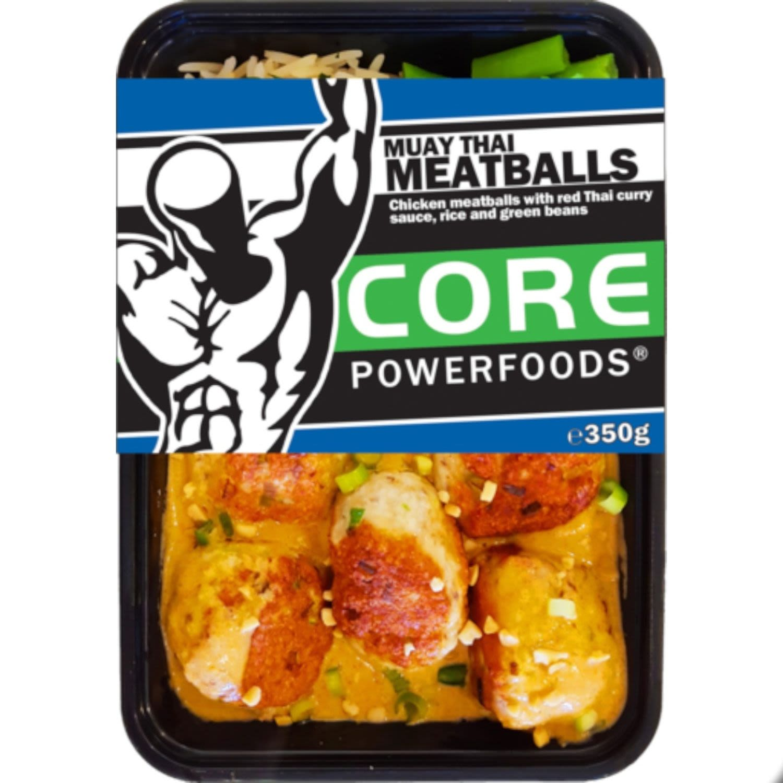 Core Powerfoods Muay Thai Meatballs, 350 Gram