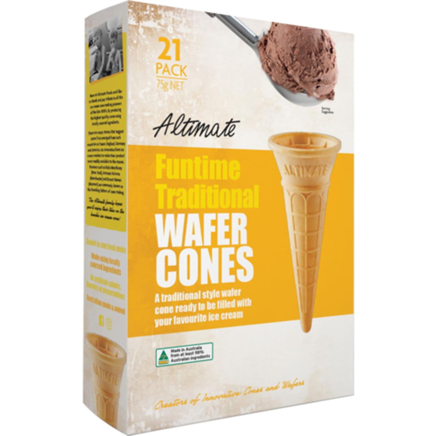 Altimate Funtime Traditional Wafer Cups, 21 Each