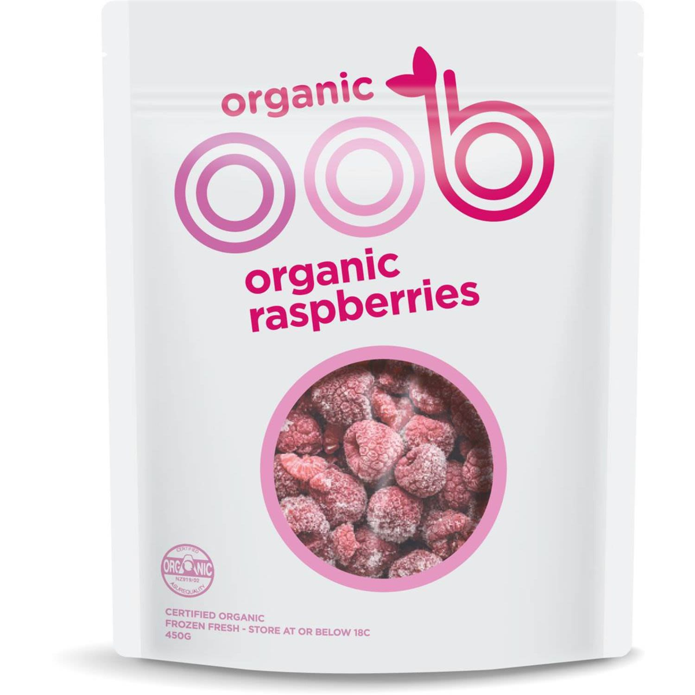 OOB Organic Raspberries, 450 Gram