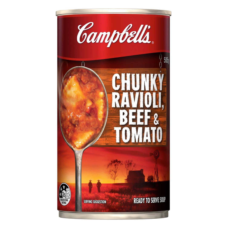 Campbell's Soup Chunky Ravioli Beef & Tomato, 505 Gram