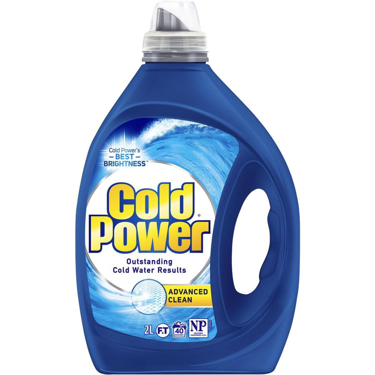 Cold Power Advanced Clean Front & Top Loader Laundry Liquid, 2 Litre
