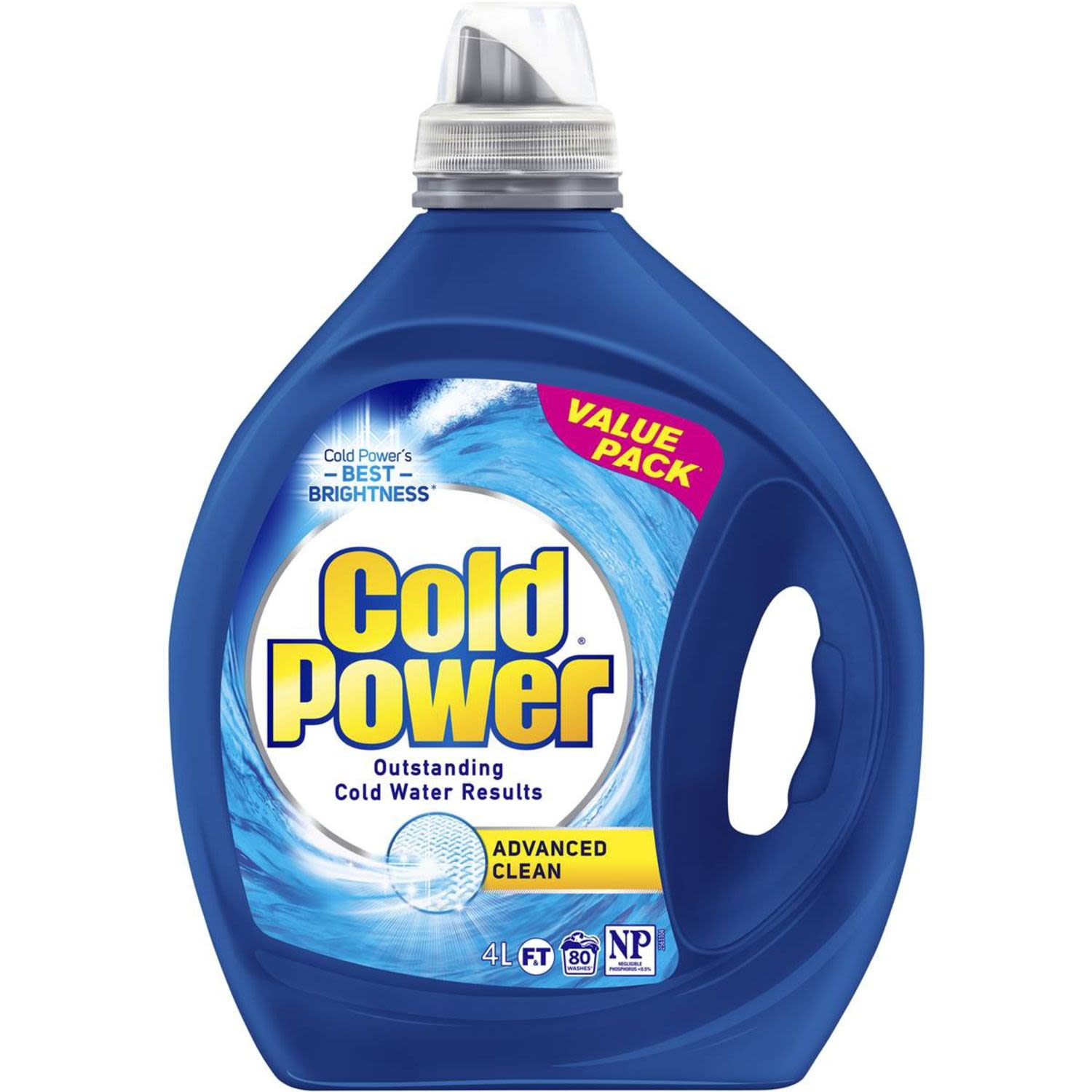 Cold Power Advanced Clean Front & Top Loader Laundry Liquid, 4 Litre