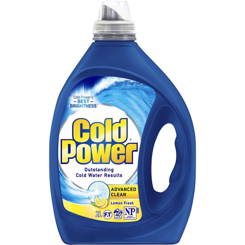 Cold Power Advanced Clean Front & Top Loader Laundry Liquid Lemon, 2 Litre