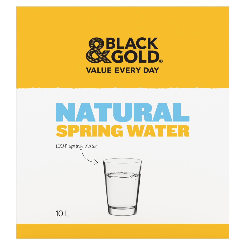 Black & Gold Spring Water Natural, 10 Litre