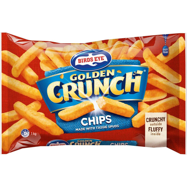 Birds Eye Golden Crunch Straight Cut Chips, 1 Kilogram