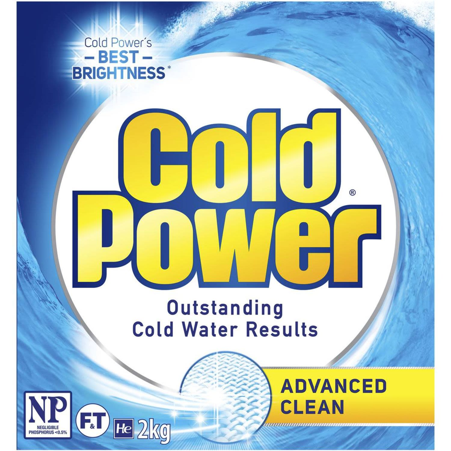 Cold Power Advanced Clean Front & Top Loader Laundry Powder, 2 Kilogram