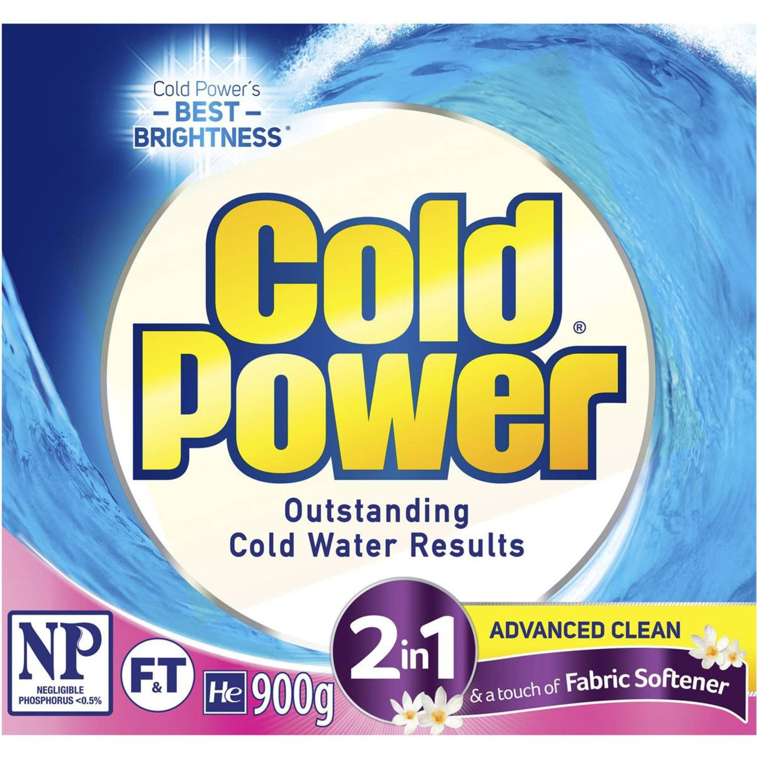Cold Power 2 In 1 Advanced Clean Fabric Softener, 900 Gram