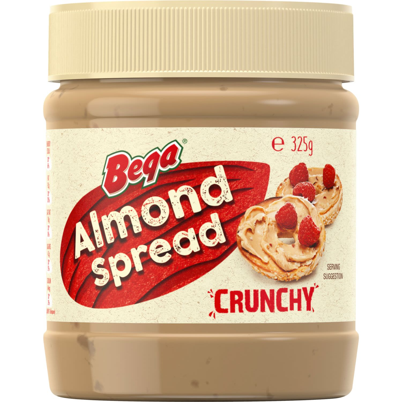 Bega Crunchy Almond Spread, 325 Gram