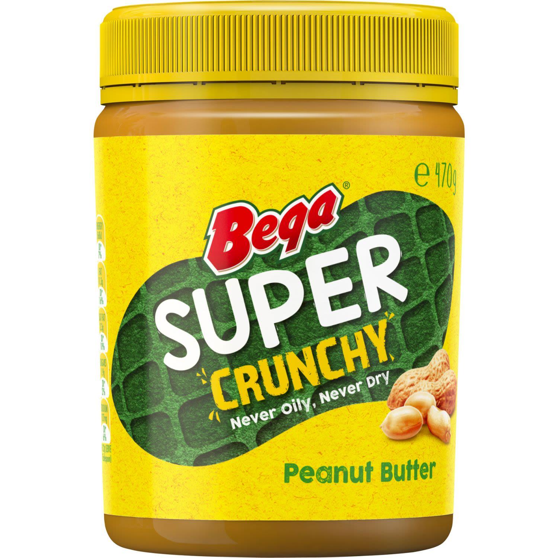 Bega Peanut Butter Super Crunch, 470 Gram