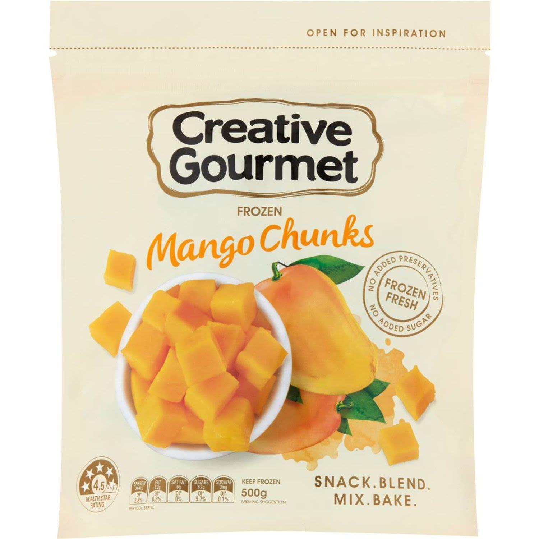 Creative Gourmet Frozen Mango Chunks, 500 Gram