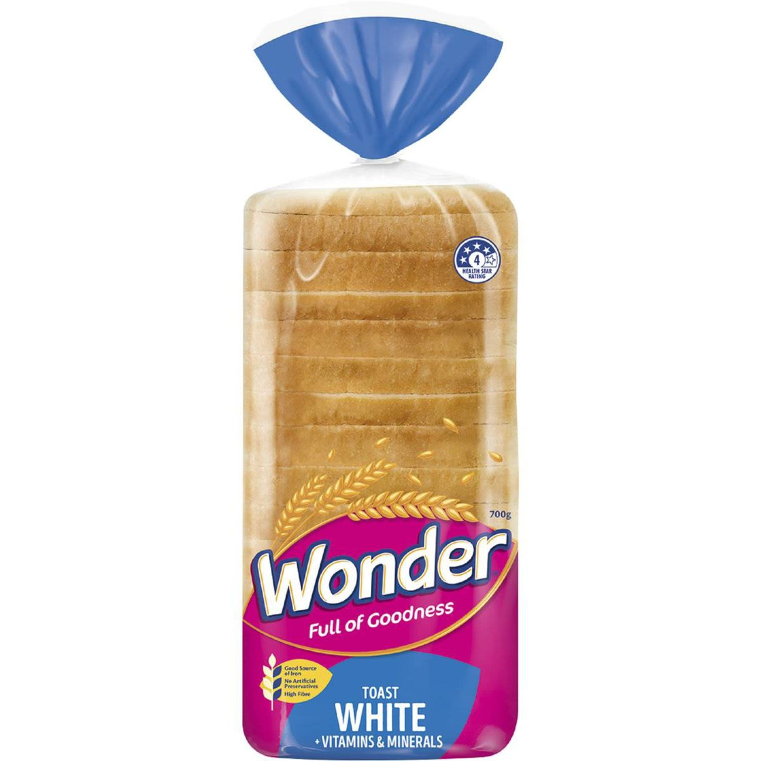 Our softest ever!   Feed their play with our softest ever thick sliced white bread. Packed full of fibre plus essential vitamins and minerlas.  Delicious goodness active kids love.  Niacin B3.  Critical energy release from food. Needed for brain function.  Vitamin E.  Helps kids' growth and development.  Vitamin B6.  Critical for your body to use protein and iron.  Thiamin B1.  Helps produce energy.  Iron.  Helps reduce tiredness and fatigue.  Zinc.  Necessary for a healthy immune system.  Protein.  Helps grow & maintain muscles. Critical for growth and development of kids' bones.  - No added sugar.  - High Fibre.  - No Artificial Preservatives.