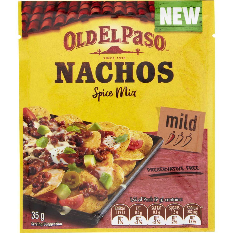 Old El Paso Nachos Spice Mix Mild, 35 Gram