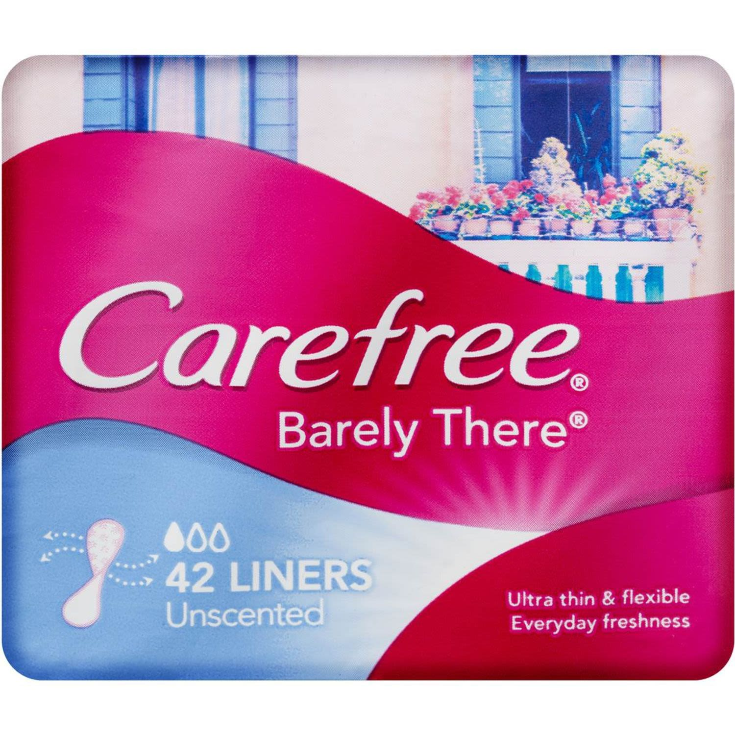 Carefree Barely There Unscented Panty Liners, 42 Each