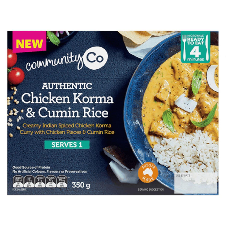 Community Co Chicken Korma and Cumin Rice, 350 Gram