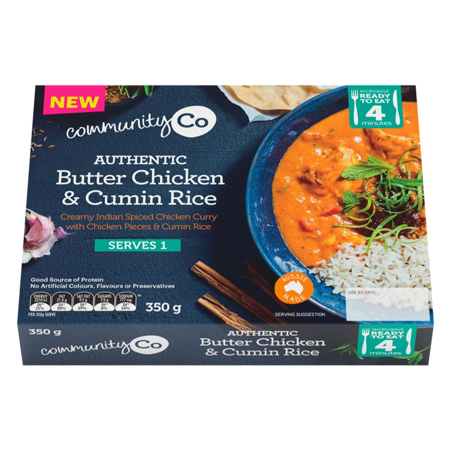 Community Co Butter Chicken and Rice, 350 Gram