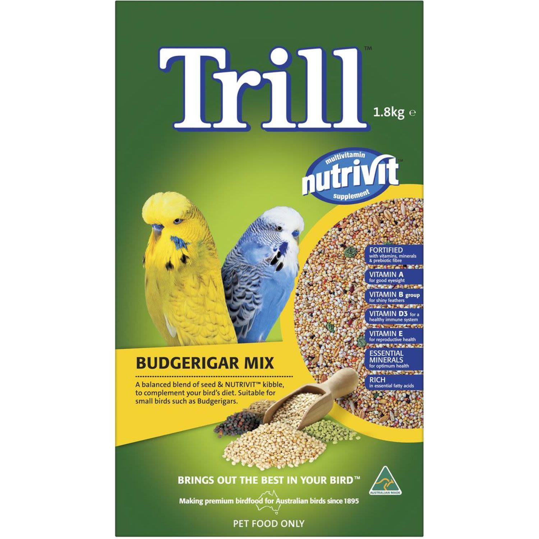 Trill Budgie Mix, 1.8 Kilogram