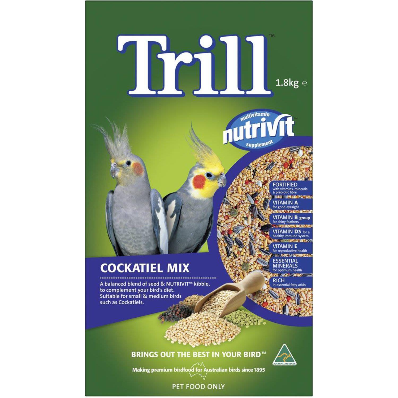 Trill Cockatiel Mix, 1.8 Kilogram