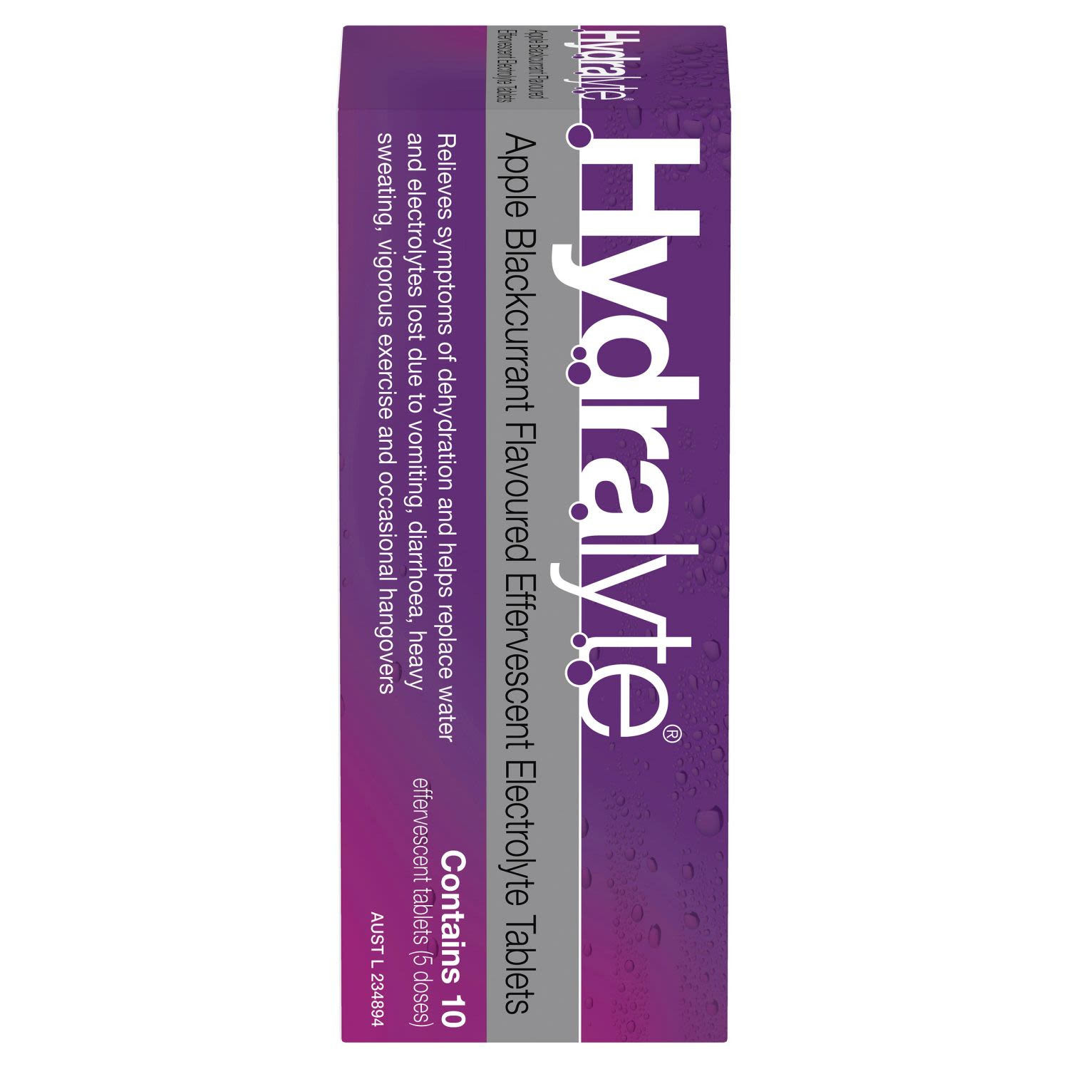 Hydralyte Effervescent Electrolyte Tablets Apple Blackcurrant, 10 Each