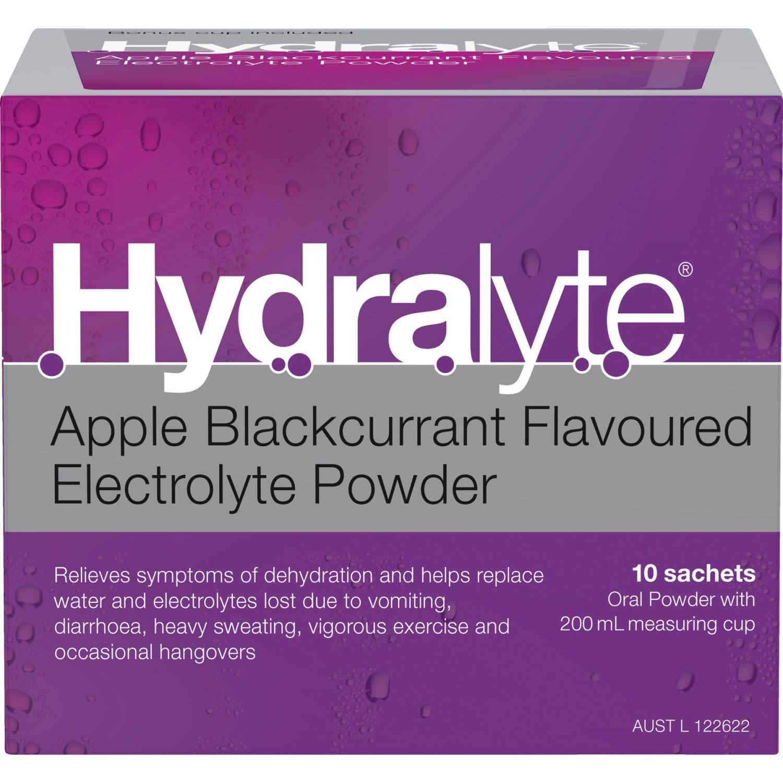 Hydralyte Electrolyte Powder Apple Blackcurrant, 10 Each