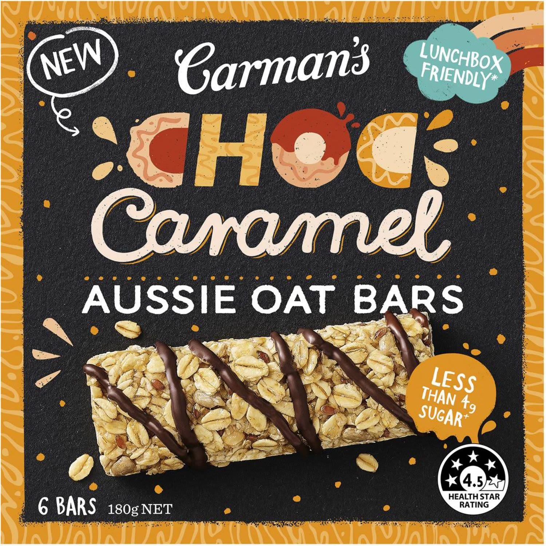 Carman's Aussie Oat Bar Choc Caramel, 5 Each