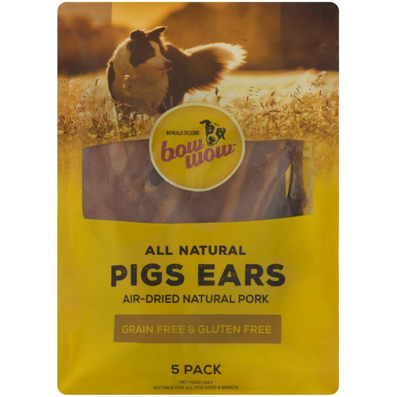 Bow Wow Pigs Ears, 5 Each