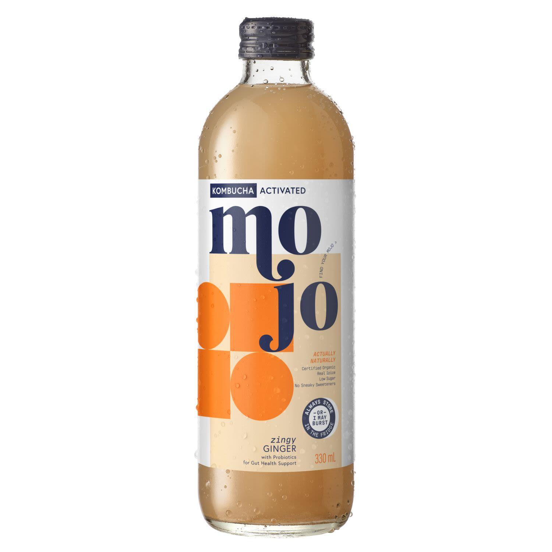 Mojo Activated Kombucha Ginger, 330 Millilitre