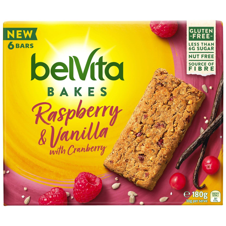 Belvita Bakes Raspberry & Vanilla with Cranberry, 180 Gram