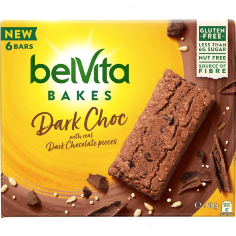 Belvita Bars Dark Chocolate Choc Pieces, 180 Gram