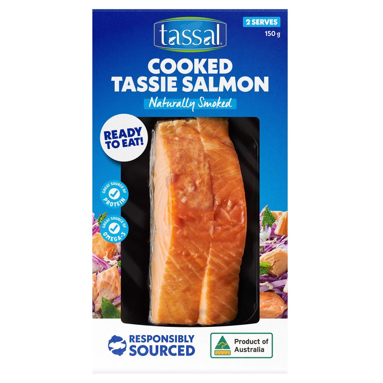 Tassal Hot Smoked Salmon Natural , 150 Gram