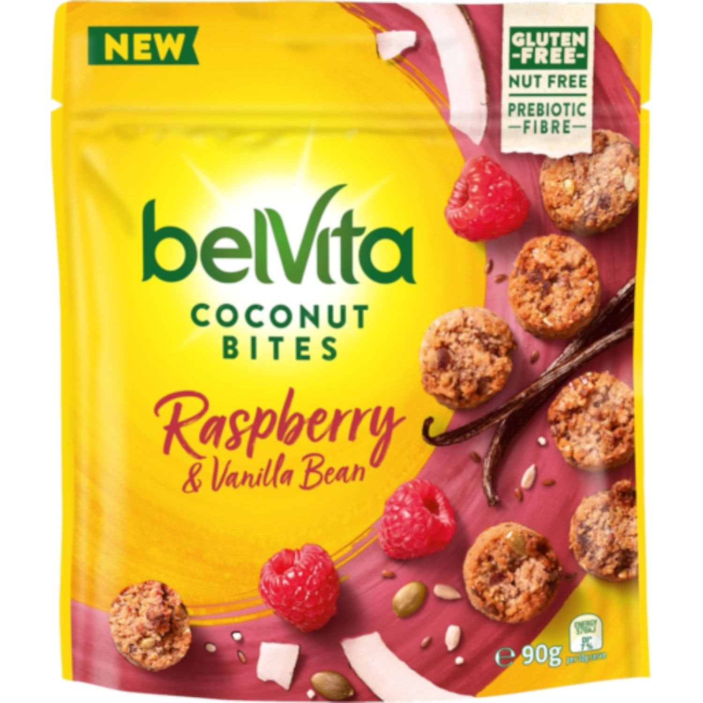 Belvita Bites Coconut Raspberry & Vanilla Bean, 90 Gram