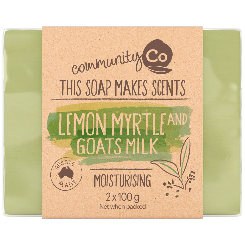 Community Co Goat Milk & Lemon Myrtle Soap, 2 Each