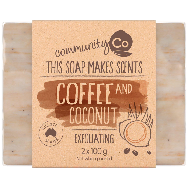 Community Co Coconut & Coffee Soap, 2 Each