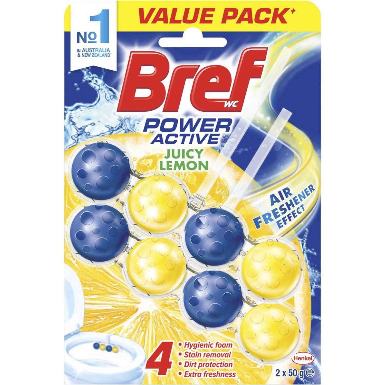 Bref Power Active Toilet Cleaner Lemon, 2 Each