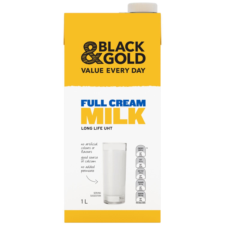 Black & Gold Full Cream Milk, 1 Litre