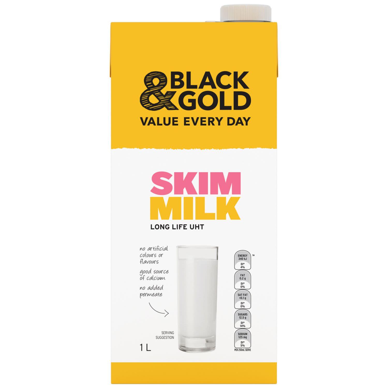 Black & Gold Skim Milk, 1 Litre