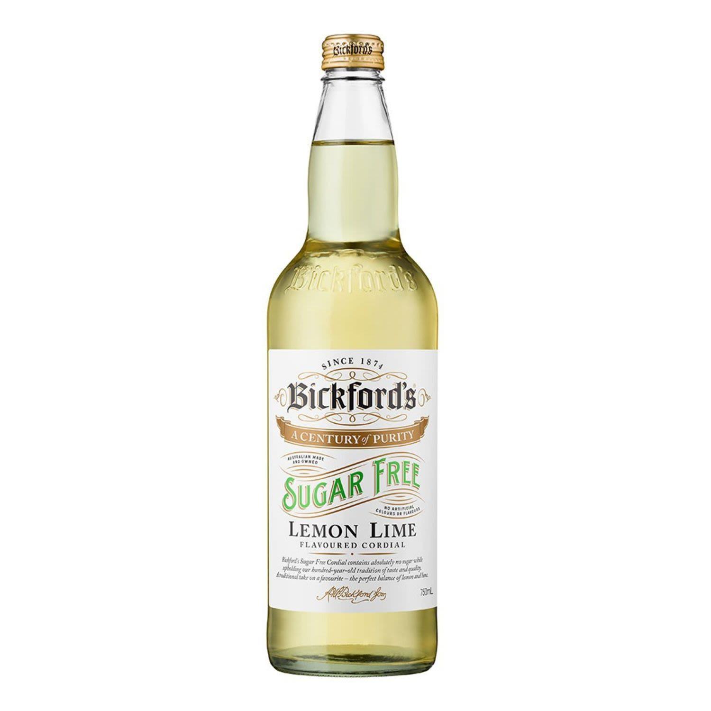 Bickford's Cord Diet Lemon Lime No Sugar, 750 Millilitre