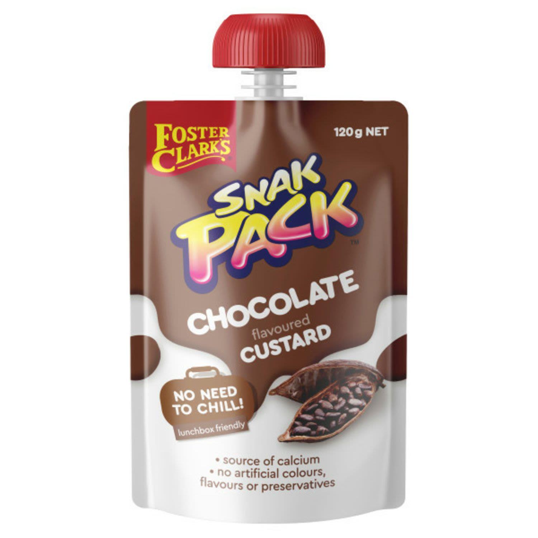 Foster Clark's Snak Pack Custard Pouch Chocolate, 120 Gram