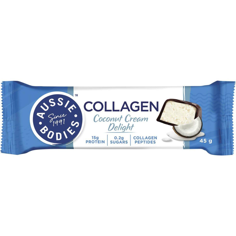 Aussie Bodies Collagen Coconut Cream Delight Bar, 45 Gram