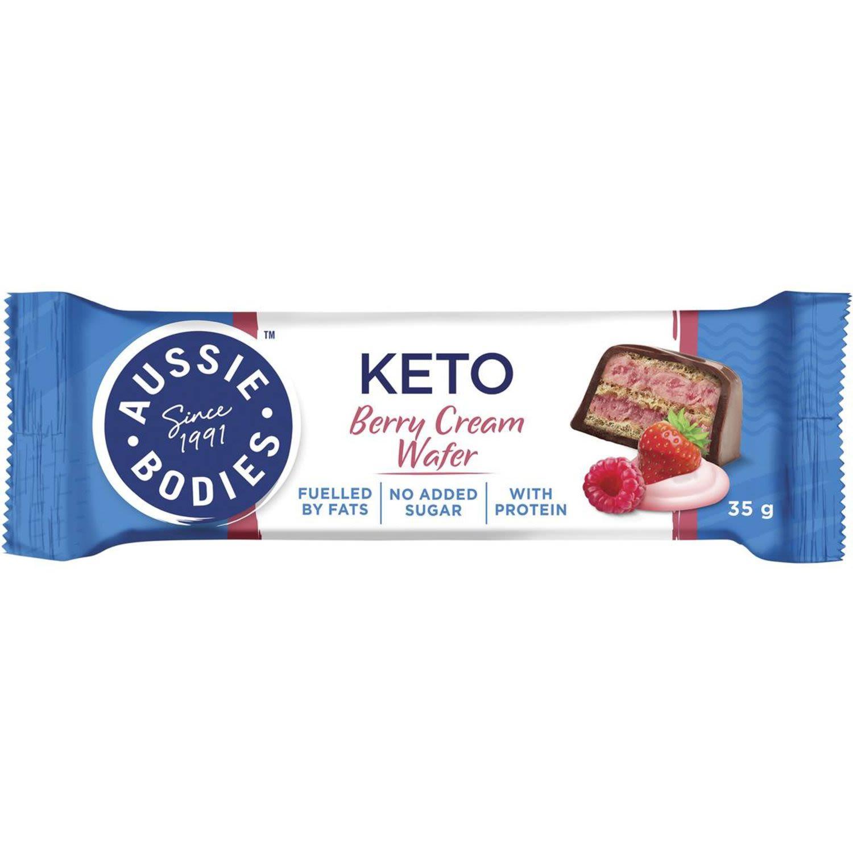 Aussie Bodies Keto Berry Cream Wafer, 35 Gram