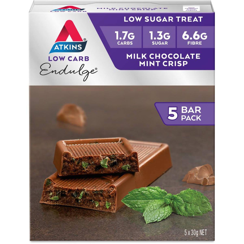 Atkins Low Carb Endulge Milk Chocolate Mint Crisp, 5 Each