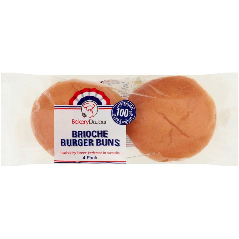 Bakery Du Jour Brioche Burger Buns, 4 Each