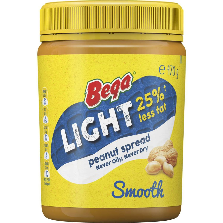 Bega Light Smooth Peanut Butter, 470 Gram
