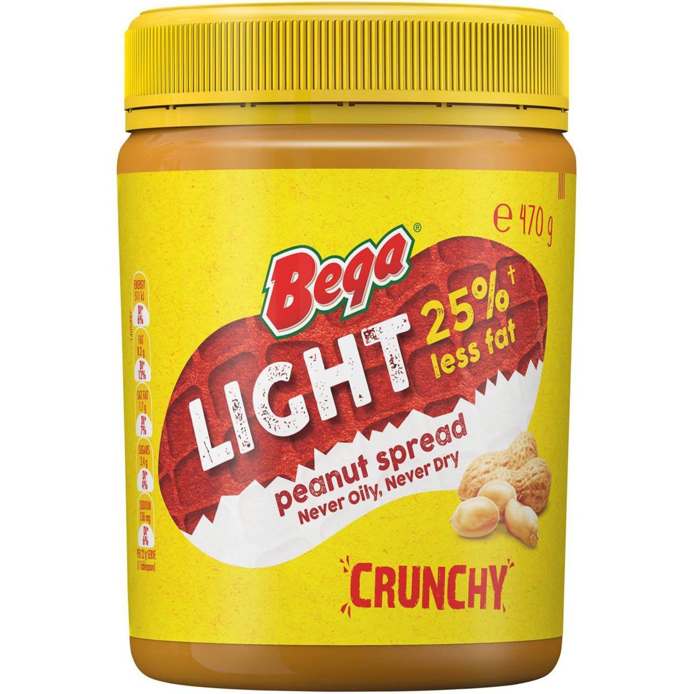 Bega Light Peanut Spread Crunchy, 470 Gram