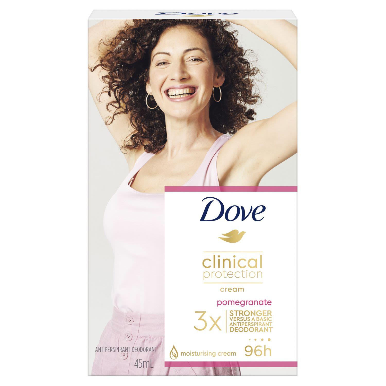 Dove Clinical Antiperspirant Cream Pomegranate, 45 Millilitre