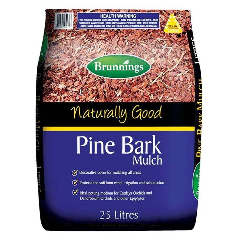 Brunnings Pine Bark, 25 Litre