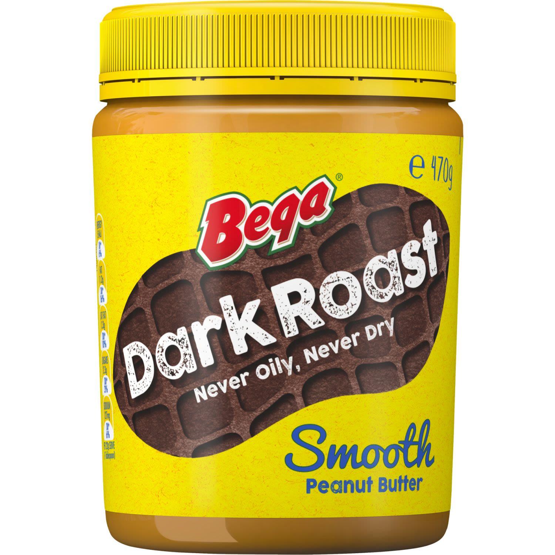 Bega Peanut Butter Dark Roast Smooth, 470 Gram