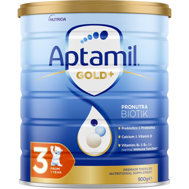 Aptamil Gold+ 3 Toddler Milk Drink From 1 Year, 900 Gram