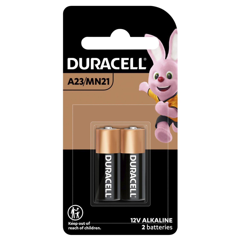 Duracell Alkaline Batteries A23/MN21, 2 Each