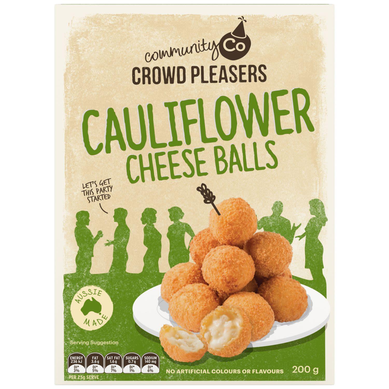 Community Co Cauliflower Cheese Balls, 200 Gram